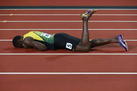 Usain Bolt losing